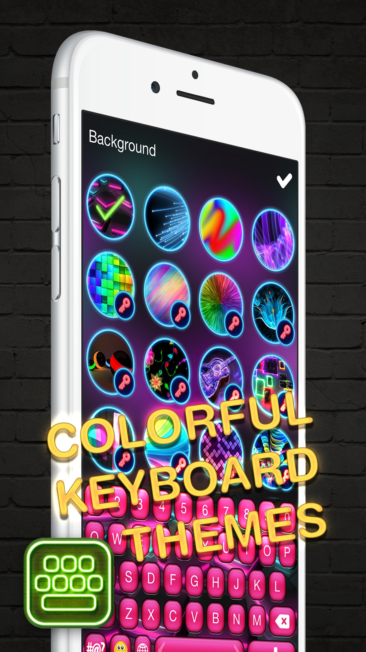 Neon LED Keyboard – Glow Keyboards for iPhone with Colorful Themes and Fonts Screenshot