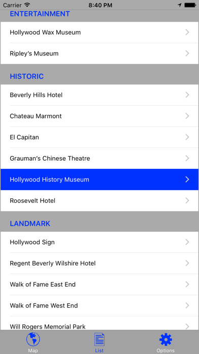 Hollywood & Beverly Hills GPS Audio Tour Screenshots