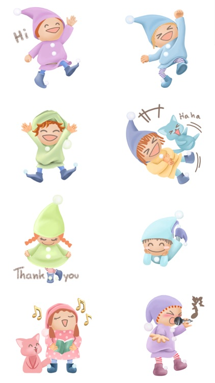 Pommin and the Kitty Gang Stickers for Messages