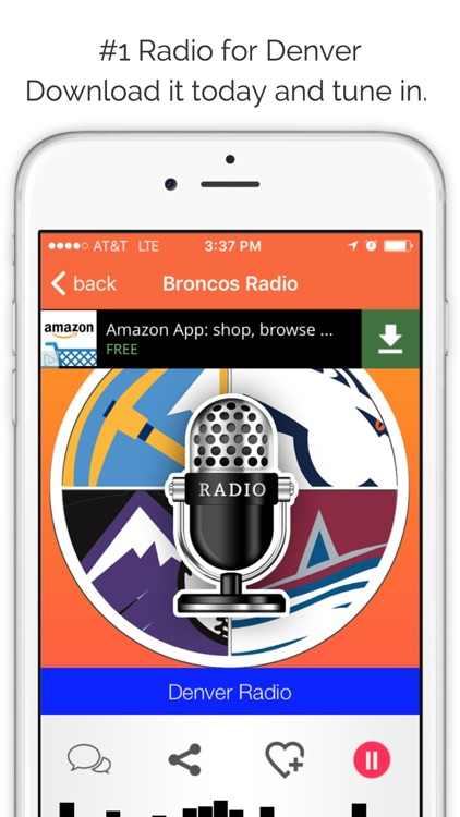 Denver GameDay Radio for Live Colorado Sports, News, and Music – Broncos and Nuggets Edition screenshot-3