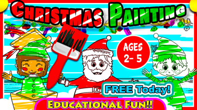Xmas Colouring Book Pages for boys, girls & adults screenshot one