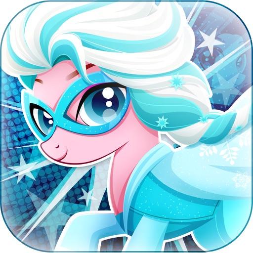 Супер Пони Hero Girl - Моя маленькая принцесса Пони одеваются игры бесплатно
