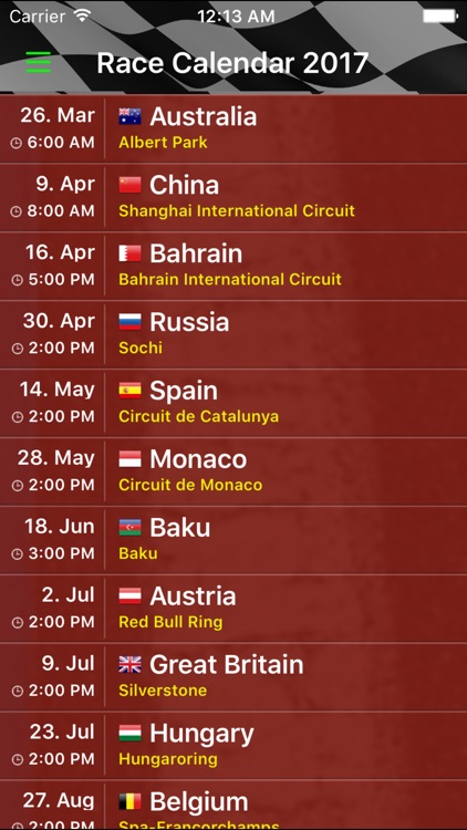 Race Calendar 2017 screenshot-2