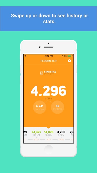 Screenshot #3 pour Private Pedometer - calorie,water,activity tracker