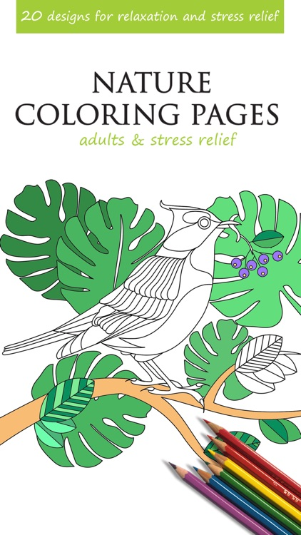 Nature Coloring Pages for Adults & Stress Relief