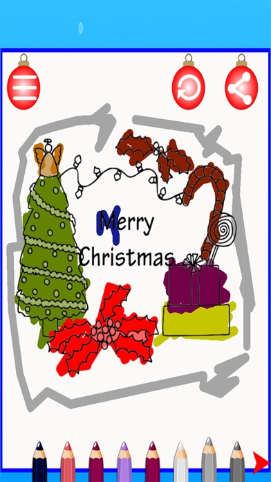 点击获取Christmas Color Pages Kids Game