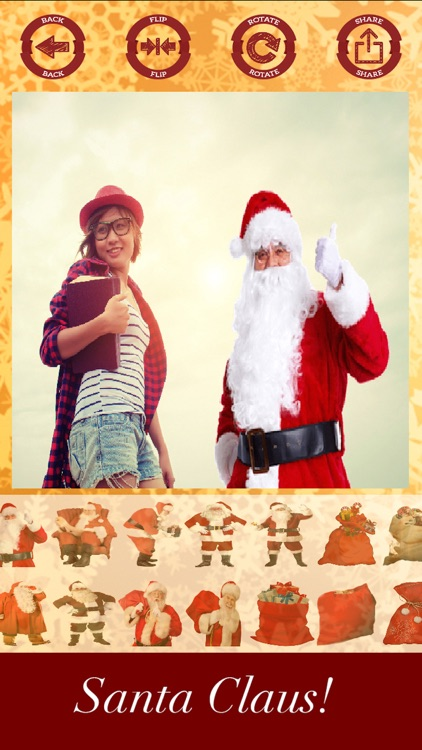 Santa Claus stickers - your photo on Christmas screenshot-3