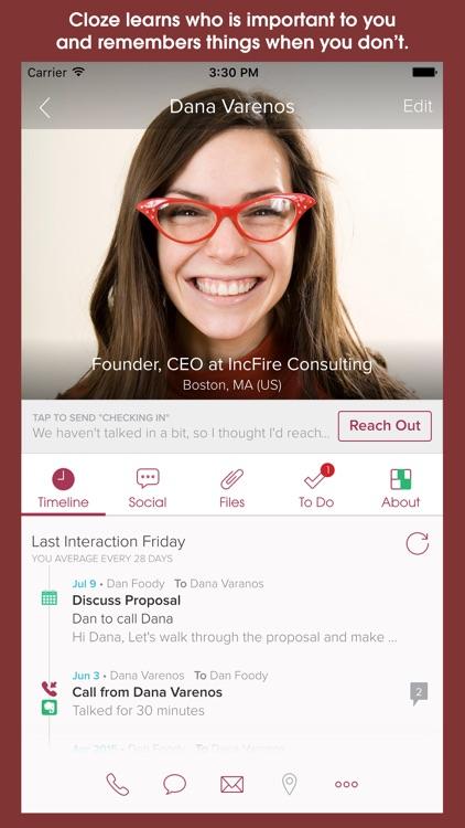 Cloze - Relationship Management, Inbox & Contacts app image