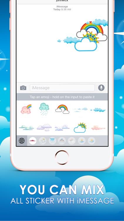 Cloud Stickers Emoji Keyboard Themes ChatStick