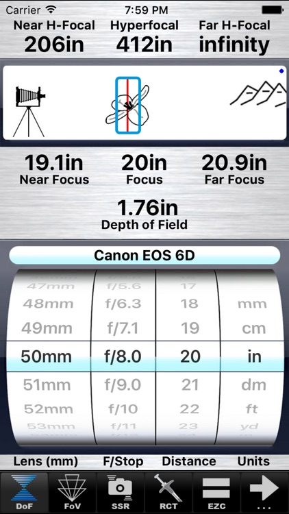 SetMyCameraMx - Depth of Field Calculator