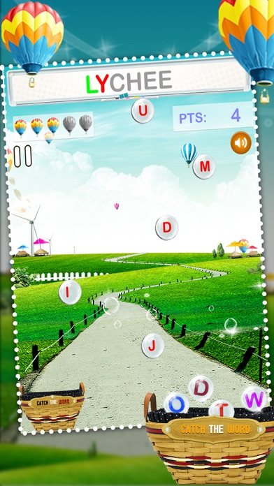 Catch The Word - Learn to Spell Fun Spelling Kids Game screenshot one