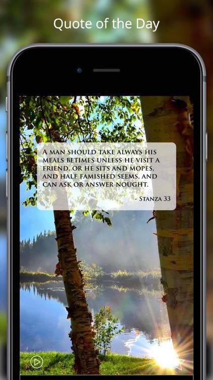 Pocket Havamal - Daily Asatru Meditations of Wisdom from Odin - Olive Bray Translation