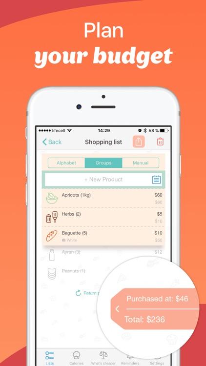 Avocadolist PRO Grocery Shopping List, Lists apps screenshot-0