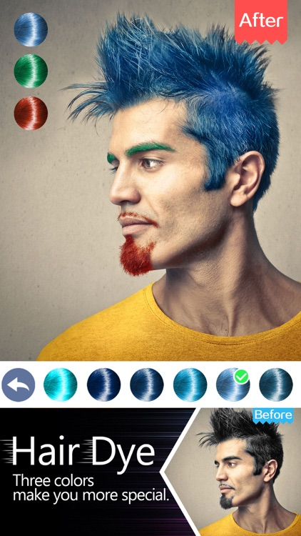 Hair Dye-Wig Color Changer,Splash Filters Effects screenshot-4