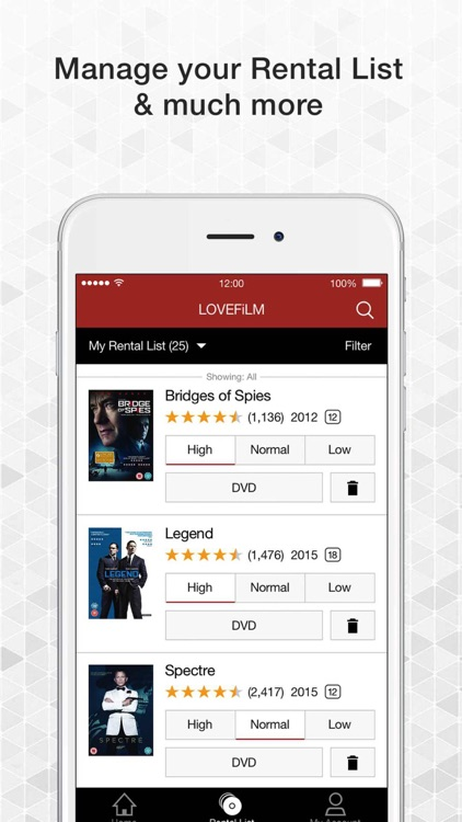 LOVEFiLM By Post UK for iPad
