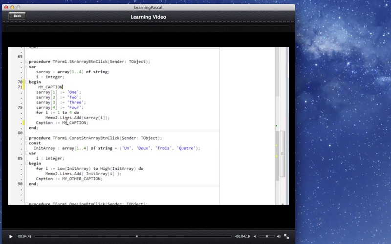 Learning Pascal screenshot 3