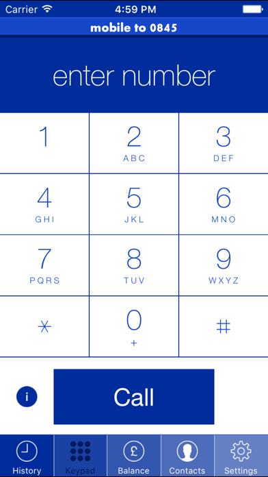 Mobile To 0845 screenshot one