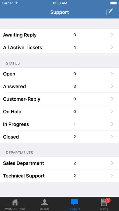 iWHMCS screenshot three