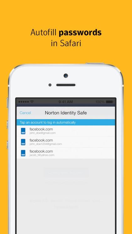 Norton Identity Safe screenshot-4