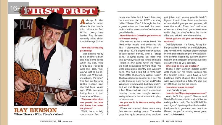 Vintage Guitar Magazine screenshot-3