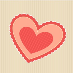 Hand Drawn Paper Heart Stickers