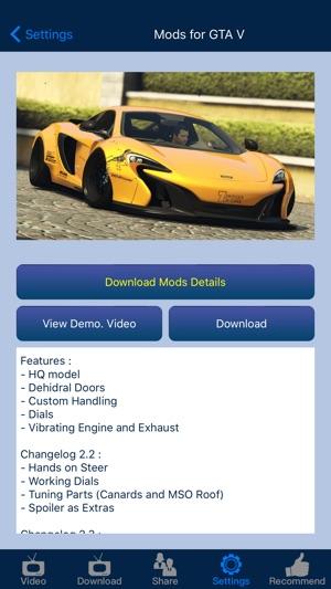Mods for Grand Theft Auto V