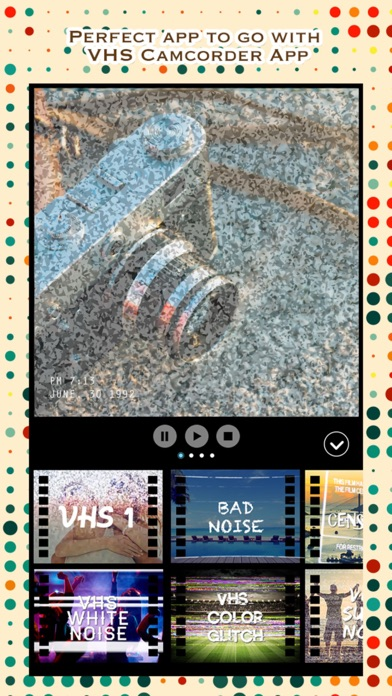 VCR Camcorder - Add Retro Camera and VHS Camcorder Effect to Video