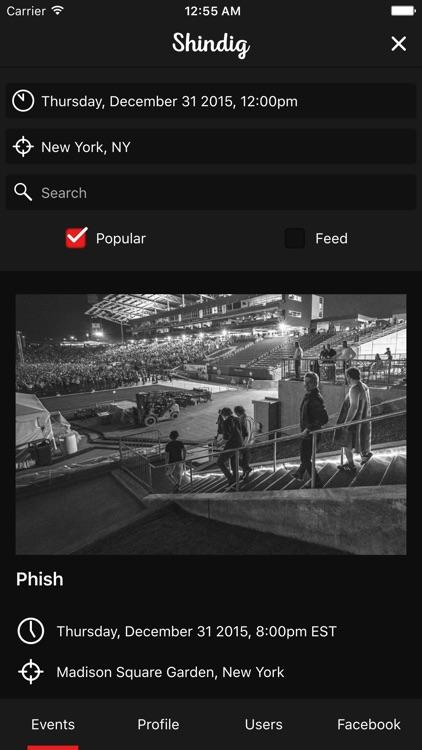 Shindig – An event discovery app screenshot-3