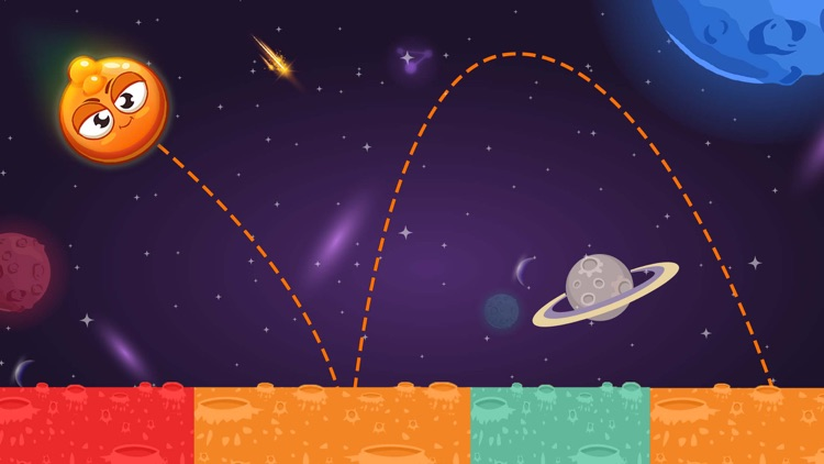 King of Bounce: Monster Jump on Color Tile in Space Travel screenshot-3