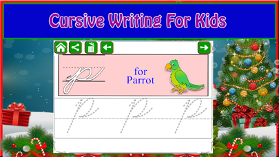 Screenshot #2 pour Alphabet Tracing Cursive & Numbers Christmas Game