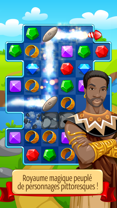 Screenshot #3 pour Knight Girl - Match 3 Puzzle