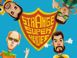 Strange Super Heroes Stickers