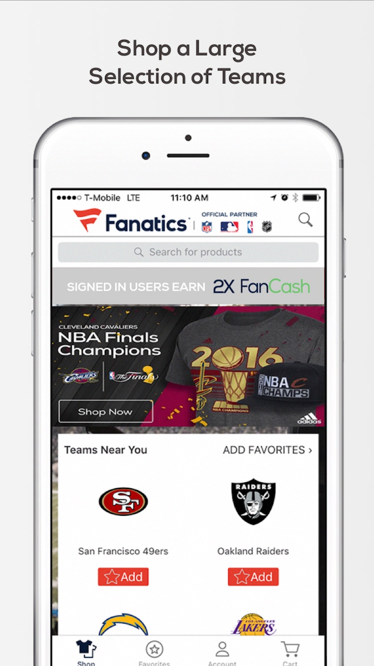 Fanatics – Shop for your Favorite Team Gear