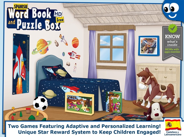 Spanish First Words Book and Kids Puzzles Box Free: Kids