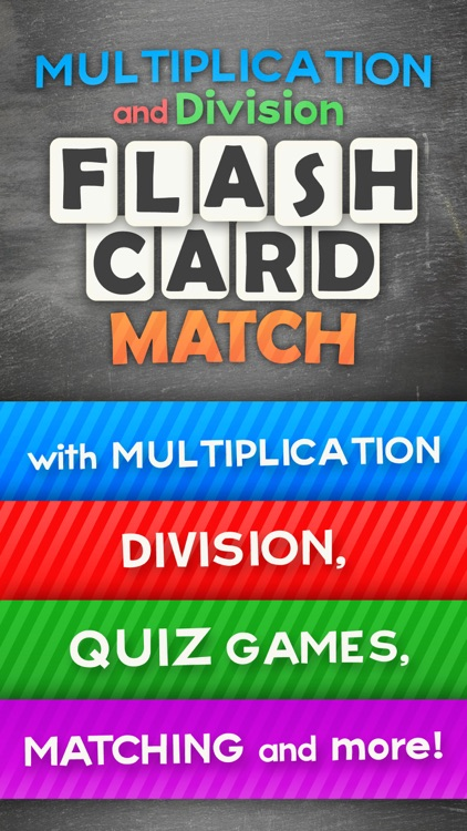Multiplication and Division Math Flashcard Match Games for Kids in 2nd and 3rd Grade
