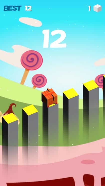 Cube Jump blade runner fall down games screenshot-3