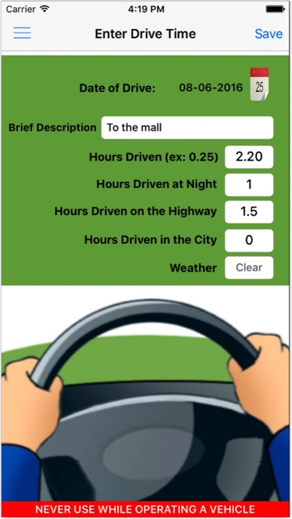 New Driver Log - Drivers license,driver education