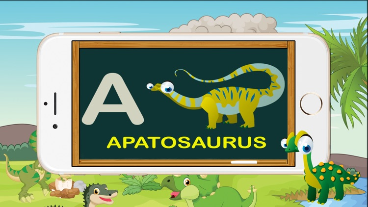 ABC Dinosaur Alphabet Tracing Flashcards for Kids screenshot-3