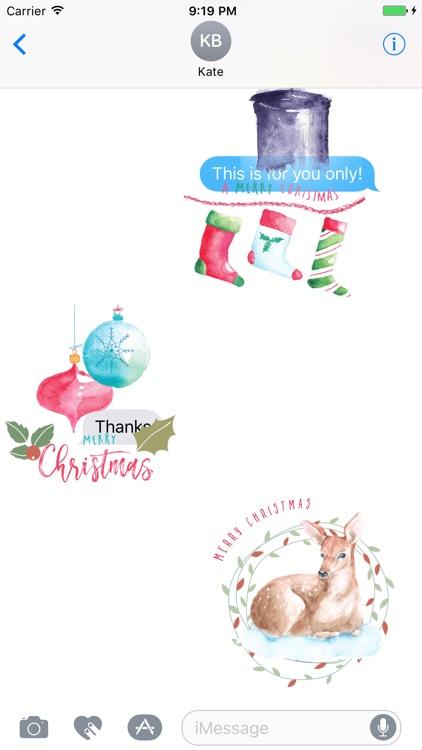 xmas.2017.xmas stickers - watercolor xmas stickers