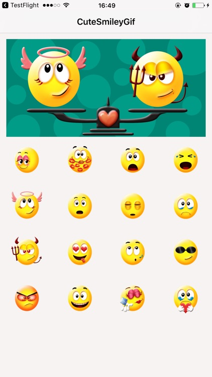 Yellow Smiley Emojis Stickers