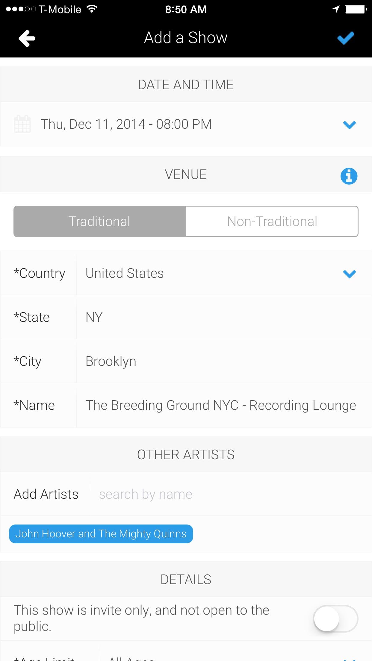 ReverbNation for Artists Screenshot