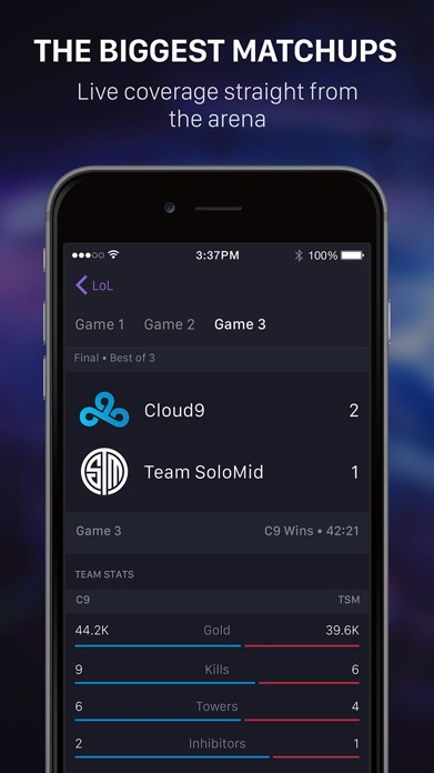 theScore esports Screenshot