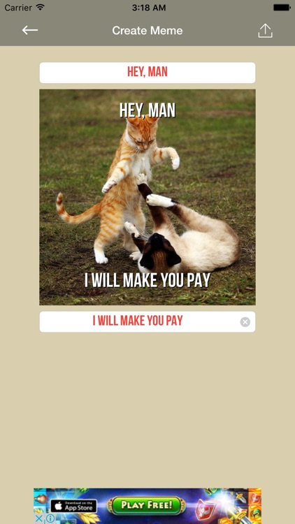 Funny Cat Make Memes - meme generator with funny cats, create your kitten memes