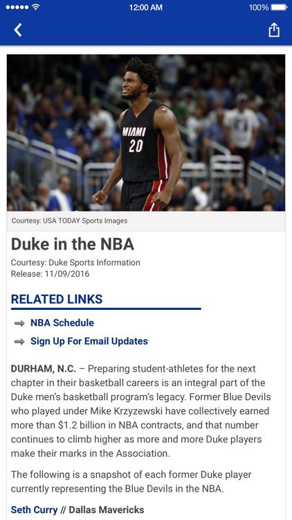Duke Blue Devils screenshot-4