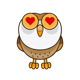 Funny Owl - Night Wise Bird Stickers