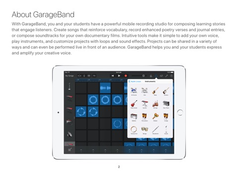 GarageBand for iPad Starter Guide iOS 10 by Apple Education on