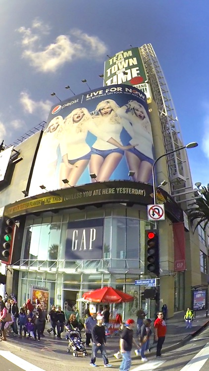 VR Hollywood Blvd by Car Virtual Reality 360