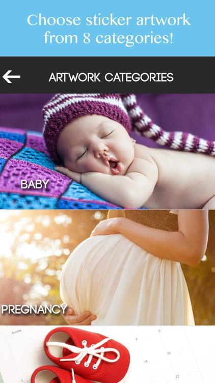 Baby Milestone Stickers Pregnancy Pic Editor Maker screenshot-3