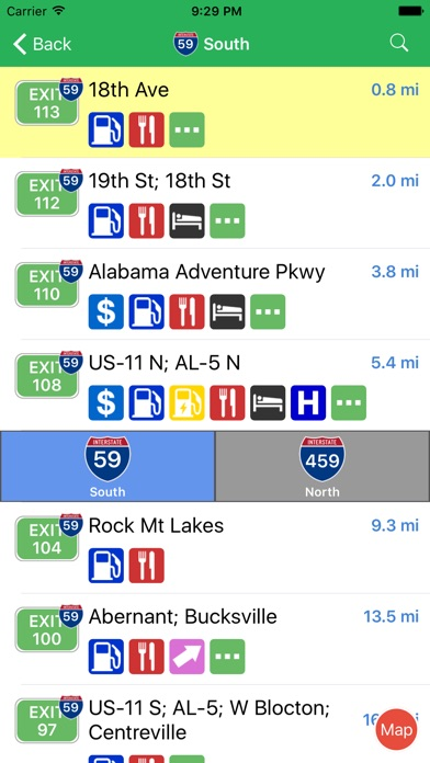 Iexit Interstate Exit Guide review screenshots