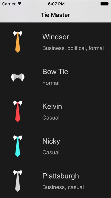 Tie Master - How to Tie a Tie: POV Video Tutorials screenshot-0